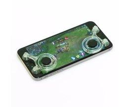 2 stks/partij Mini Mobiele Telefoon Joysticks, Touchscreen Joystick Voor Smartphone Tablet Arcade touchscreen gebaseerd games <br />  VODOOL