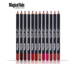 12 stks/partij Lip Potlood Waterdichte langdurige Lip Liner Pen Stok Zachte Lipliner Make Naakt 12 kleur Lipliner <br />  Magical Halo