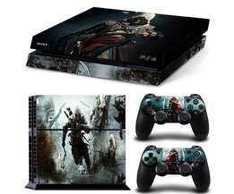 Assassins Creed Decal Skin Cover Voor playstaion 4 Console PS4 Huid Stickers + 2 Stks Controller Beschermende Huid Sticker  <br />  <br />  MyXL