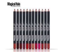 Magical halo 12 stks/set professionele waterdichte heldere potlood lip liner potlood voor lippen langdurige lipliner pen make cosmetische <br />  Magical Halo