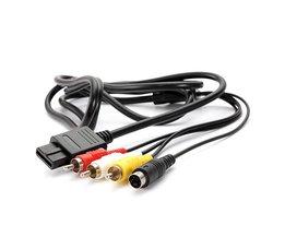 Laagste Prijs 1.8 M 6FT AV TV S-Video Super Voor Nintendo voor Gamecube 64 Voor SNES NGC Voor N64 AV kabel <br />  ShirLin