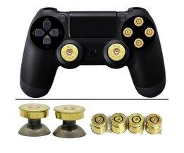Goud Duimknoppen Bullet Knoppen en Bullet ABXY Knoppen Set Voor DualShock 4 Draadloze Controller PS4 Controller <br />  YTTL