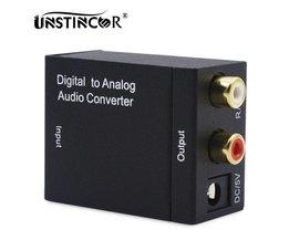 Digitale Audio Analoog TV Converter Optische Toslink Spdif Coaxiale Audio Adapter RCA L/R 3.5mm met Optische Kabel <br />  UNSTINCER