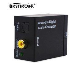 Analoge naar Digitale Audio TV Converter Coax naar Optische Toslink Spdif Audio Adapter RCA L/R 3.5mm met Optische Kabel <br />  UNSTINCER