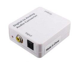 TV Optische Digitale SPDIF/Coax naar RCA L/R Hoofdtelefoon Analoge Audio Converter Out Wit <br />  SONGFUL