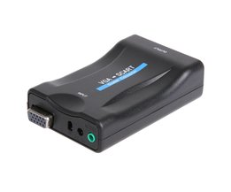 VGA naar Scart Converter Video Audio Converter Ondersteuning Europese TV sets met SCART input Interface met Afstandsbediening <br />  alloet