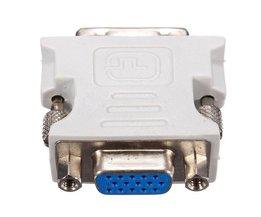 DVI-D Naar-vga Adapter 18 + 1Pin Dual Link naar VGA 15 Pin Vrouwelijke Plug Adapters Voor PC Laptop <br />  Mayitr