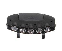 Ultra Bright 5 LED Clip Op Cap Licht Harde Hoed Outdoor Vissen Camping Fietsen <br />  SONGFUL