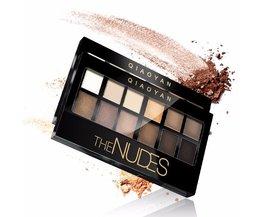 12 Kleuren Oogschaduw Professionele Make Palet Natuurlijke Shimmer Matte Nudes Make Up Cosmetische Oogschaduw Plaat  <br />  <br />  QIAOYAN