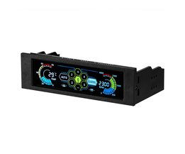 1 ST PC Computer Fan Speed Controller Voorpaneel LCD Touchscreen Temperatuur Display Automatische Fan Speed Controller Board <br />  VODOOL