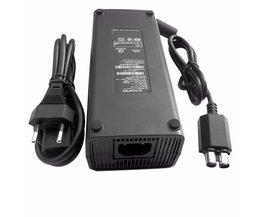 AC 100-240 V Adapter Voeding Oplader Kabel voor X-BOX 360 Slanke Ideaal Vervanging Charger Met LED Indicator licht EU Plug <br />  Dpower