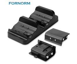 Fornorm Gamepad Controller Opladen Houder Charger Stand Voor Xbox Een S Met 2 Stks Oplaadbare Batterijen <br />  FORNORM