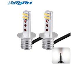 2 Stks H1 Led-lampen SHARP Chip Witte Auto 12-SMD 750LM DRL Dagrijverlichting Mistlampen Auto Leds Auto Rijden Lamp 12 V-24 V  <br />  <br />  XSTORM