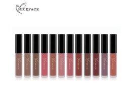 Nieuw Lipstick Kleur Vrouwen Mode Voelen 12 Stks/set Make Matte Lipstick Lipgloss Potlood Schoonheid Langdurige Lip Coloring <br />  Niceface