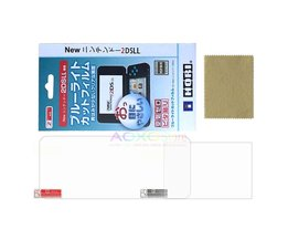 2 in 1 Volledige Cover HD LCD Screen Protector Film voor Nintendo2DS XL/LL 2 DSXL/2 DSLL Console Oppervlak Guard Shield in Retail doos <br />  AOXO