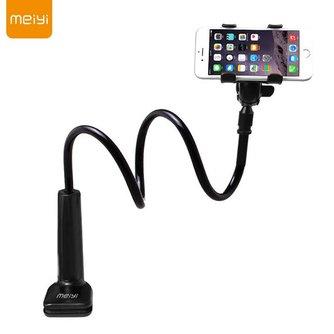 360 Graden Flexibele Arm Mobiele Telefoon Houder Stand Voor Iphone 6 s 6 plus voor Samsung S6 S5 onder 6 ''telefoons Zwart <br />  MEIYI