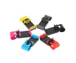 Wiel Fiets Clip Mount Houder Roze Auto Steering Voor iphone Telefoon voor Samsung GPS C1 Groothandel <br />  OXA