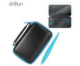 3 In 1 Game Accessoires Set Voor2DS LL Met EVA Carrying Case Tas + Screen Protector + Stylus Set Voor Nintendo2DS XL/LL <br />  ShirLin