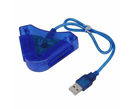 Joypad Game USB Dual Player Converter Adapter Kabel Voor PS2 Aantrekkelijke Dual Playstation 2 ST USB Game Controller Groothandel <br />  ONLENY