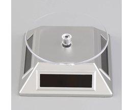 Zonne-energie Roterende Sieraden Mobiele Telefoon Ring Armband Horloge Display Stand <br />  haweel