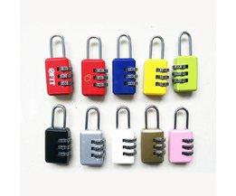 1 Stuk Wachtwoord Combinatie Codenummer Lock Hangslot Voor Bagage Rits Rugzak Handtas Koffer Lade Kinderen Bagage Lock <br />  MyXL