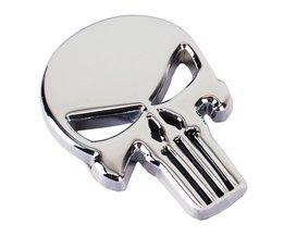 Cool 3D Schedel Metalen Skelet Auto Motorfiets Sticker Label Schedel Embleem Badge Motorfiets Auto Styling Stickers Decal Accessoires <br />  NAPOKIT