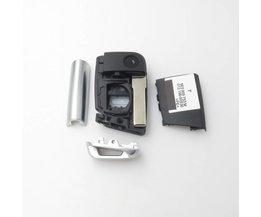 Xinyuexin Opvouwbare Sleutel Shell FOB Case Voor VW Golf 7 Voor Skoda Octavia A7 Flip 3 Knop Flip Autosleutel Cover Voor Golf MK7 <br />  xinyuexin