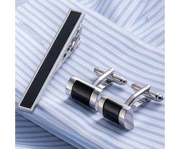 Luxe VAGULA Tie Clip Manchetknopen Set Topkwaliteit Tie Pin manchetknopen Set Groothandel Tie Bar Link Set 53