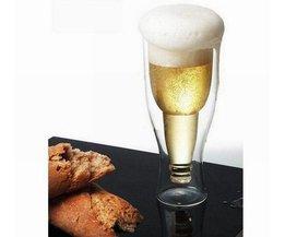 Big size Bier cup Creatieve bierfles Duurzaam Double Wall fles Hopside hot koop gratis verzending