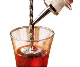 1 stksRvs Cocktail Drink Mixer Bar Puddler Roeren Mengen Lepel Pollepel Stirrer DIY Tool <br />  LINSBAYWU