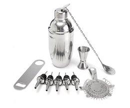 Cocktail Shaker Set Met Mixer Martini Mojito Geesten Drink Wijn Maker Zeef Muddler Schenker <br />  YKPuii