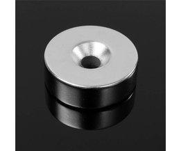 2 Stks 30mm x 10mm Gat 6mm N35 Ring Loop Verzonken Magneten Disc Zeldzame Aarde Neodymium Magneten 30x10mm Circulaire Permenent Magneet <br />  ELDOER