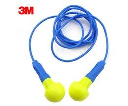 2 pairs Authentieke 3 M 318-1005 Ruimte Foam Soft snoer Oordoppen anti-geluid slapen Reductie Norope oordopjes Beschermende oorbeschermers <br />  3M