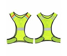 LED Reflecterende Veiligheid Vest voor Night Running Fietsen Ademend Hoge Zichtbaarheid <br />  MyXL