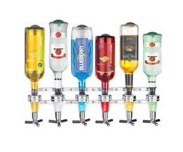 Wandmontage 6-station Liquor Bar Butler Wijn Dispenser Machine Drinken Schenker Thuis Bar Gereedschap Voor Bier Soda Coke Fizzy Soda <br />  Finether