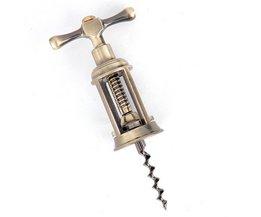 6 ''Antieke Rvs Gesneden Bronzen Wijn Flesopener Handheld Kurkentrekkers <br />  YKPuii