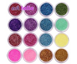 30 Stks Diverse Kleuren Nail Art Fijn Glitter Poeder Stof UV Gel Polish Acryl Nail Tips Gereedschap <br />  Art lalic