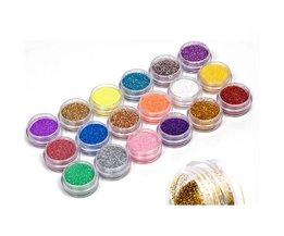 18 Kleuren Nail Art Glitter Poeder Stof Decoratie kit Voor Acryl Tips UV Gel DIY Drop Verzending Groothandel Nail Glitter <br />  YKS