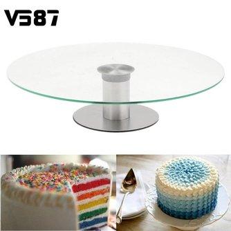 Cake Stand Platter Draaitafel Muis Over Image Zoom 360 Revolving Cupcake Dessert Bruiloft Verjaardagsfeestje Display 30 cm <br />  V587