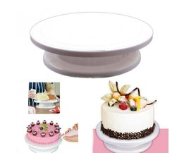 Keuken Bakvormen Bakken Cake Maken Draaitafel Roterende Decorating Platform Stand Display Tool <br />  Aihogard