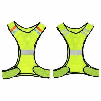 LED Reflecterende Veiligheid Vest voor Night Running Fietsen Ademend Hoge Zichtbaarheid <br />  Safurance