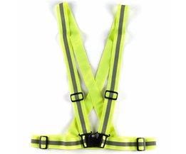 Unisex Veiligheid Reflecterende Fietsen Geel Fluor Bike Visability Crossover Vest TopAankomst <br />  Safurance