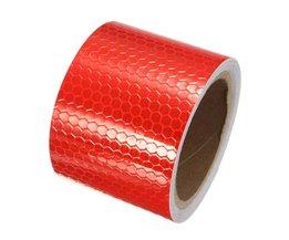 "2 ""X10' 3 Meters Wit rood Reflecterende Veiligheidswaarschuwing Conspicuity Tape Film StickerAankomst<br />  Safurance"
