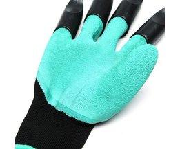 1 Paar Rubber TPR Thermo Plastic Bouwers Werk ABS Plastic Klauwen Huishouden Tuin Graven Handschoenen Handschoenen <br />  Safurance