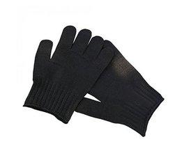 1 Paar Zwart Werken Veiligheidshandschoenen Snijbestendige Beschermende Rvs Draad Butcher Anti-Snijden Handschoenen outdoor tool kits  <br />  <br />  Safurance