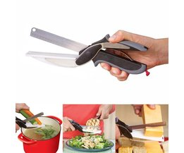 Clever smart 2 in 1 utility cutter mes & board rvs cutter vlees aardappel kaas groente multifunctionele schaar <br />  hinta