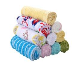 8 peices/lot Baby Katoen Gaas Mousseline Gezicht Handdoek Baby Handdoek Washandje Zakdoeken Zuigeling Babyvoeding Speeksel Handdoek <br />  JOYREN