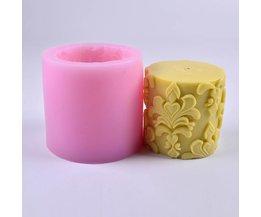 Nicole Siliconen Mal voor Zeep Kaars Maken 3D Ronde Cilinder met Klassieke Relief Handgemaakte Craft Mould <br />  GBhouse