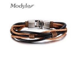 Mode Gevlochten Lederen Armband Punk Sieraden Manchet Vrouwen/Mannen Sieraden <br />  Modyle