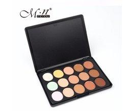 Menow GloedProfessionele Concealer Palet 15 Kleur Concealer Perfect Cover Acne/Donkere kringen Make Cosmetische C15004-01 <br />  MENOW